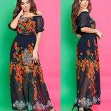 Шифоновые платья в пол, разные модели, размеры 42-44, 44-46. Sale