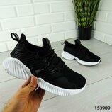 Трендовые женские черные кроссовки, супер качество