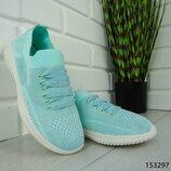 Женские кроссовки голубые,мятные