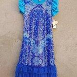 Платье с пайетками для девочки, размер 14