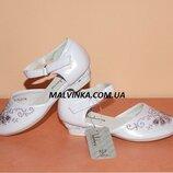 Туфли на девочку 28 р белые арт 311 KLF.