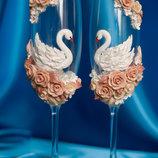 Свадебные бокалы весільні келихи