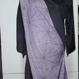 Карнавальное платье с капюшоном ведьмы колдуньи helloween на 9-10лет
