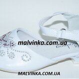 Туфли нарядные на девочку белые 32,36 р KLF арт 308 .