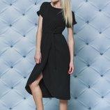 Женское летнее платье в черном цвете 42-58