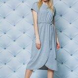 Женское летнее платье в сером цвете 42-58