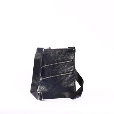Удобная кожаная сумка-месенджер на длинном ремне