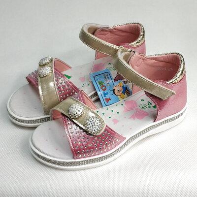 Детские босоножки сандалии для девочек розовые y.top 27р-32р 4126