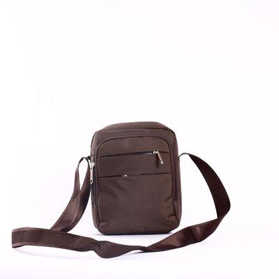 Мужская сумка текстиль коричневая Yangman Brown