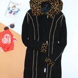 Замшевая курточка пальто тигровый принт