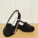 Туфли на девочку черные 25-30 р арт 5801 TOM.M