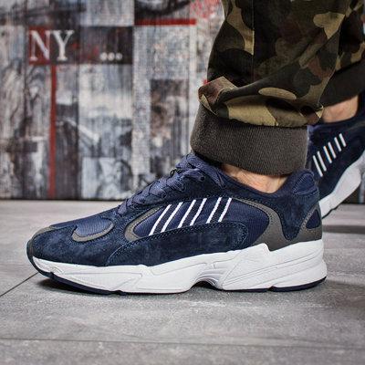 Кроссовки мужские Adidas Yung 1, темно-синие Код 15933