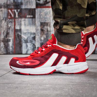 Кроссовки мужские Adidas Galaxy, красные Код 15914