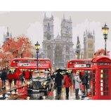 Картина по номерам. Городской пейзаж Утро в Лондоне 40х50см KHO2149