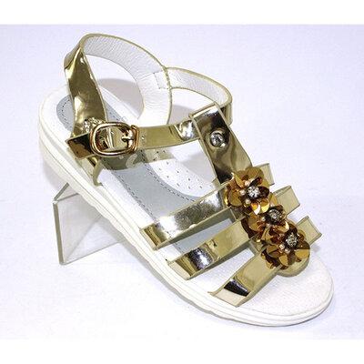 Продано: Детские золотые сандалии