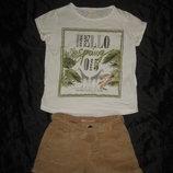 5-6 лет, хлопковая футболка Zara мальчику или девочке