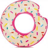 круг надувной пончик, донат 107 и 114 см