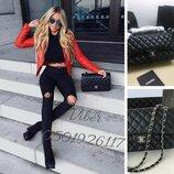 купить сумку Chanel Шанель 2.55 в черном цвете Фурнитура серебро