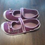 Туфли текстильные для девочки