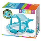 Intex 57125 211х185х109см Надувной бассейн Большой Кит с навесом