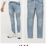Байкерские джинсы скинни w34 от h&m