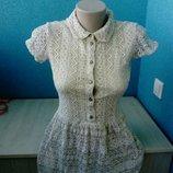 Стильное фирменное женское платье кружево River Island