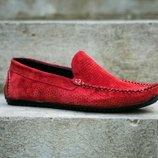 Замшевые мокасины с перфорацией, отличное качество, летние туфли, сандалии, мокасины