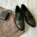 Кожаные, качественные, современные лоферы, отличные туфли.
