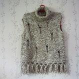Кофта ETAM XL свитер р.48-50, жилет дешево женская девочка меланж