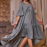 Очаровательное стильное платье свободного кроя 1160