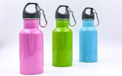 Бутылка для воды алюминиевая с карабином 0044 бутылка термос объем 500мл
