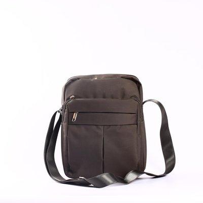 Большая мужская сумка коричневая текстиль , Yangman Large Brown