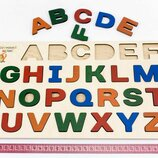 Деревянная рамка вкладыши Английский алфавит, English. Розумний Лис.