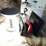 Светильник-Зарядное устройство на 5 USB портов