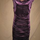 Красивое велюровое платье H&M р-р8-10