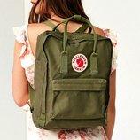 Молодежный рюкзак, сумка Fjallraven Kanken Classic, канкен класик. Хаки, haki / 7105