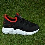 Детские кроссовки найк Nike сетка черные, р31-35