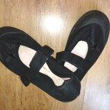 Туфли мокасины черные