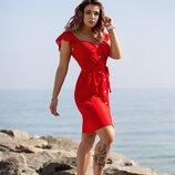 Летнее платье Горох 42-52 р-р