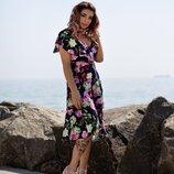 Яркое летнее платье Ассиметрия 42-58 р-р