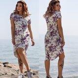 Платье Лен Цветы