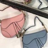 Женская кожаная сумка Christian Dior Saddle