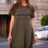 Женское турецкое платье трапеция ткань турецкий коттон два цвета скл.1 арт.53622