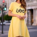 Коттоновое свободное платье