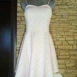 Пудровое платье,s,m