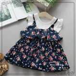 Легкие, летние платья на девочек 2-6 лет