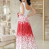 Шикарное вечернее нарядное шифоновое платье Анисья с П б/р скл.2