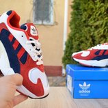 Кроссовки женские Adidas Yung white/red
