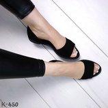 Шикарные натуральные кожаные летние босоножки балетки Супер качество