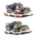 Открытые кожаные сандалии на мальчика Clibee 25-30р., 109032,109031,19